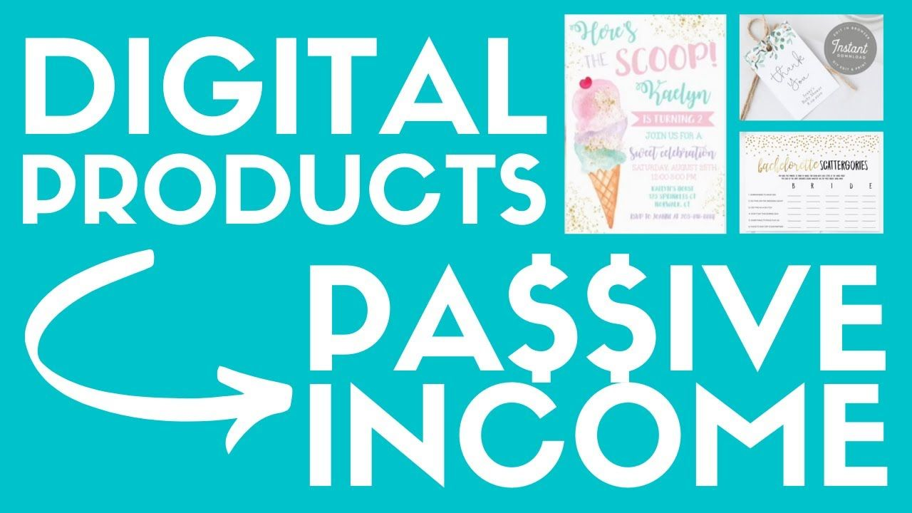 Digital Product Ideas For Parties & Events To Sell On Etsy For Passive Income