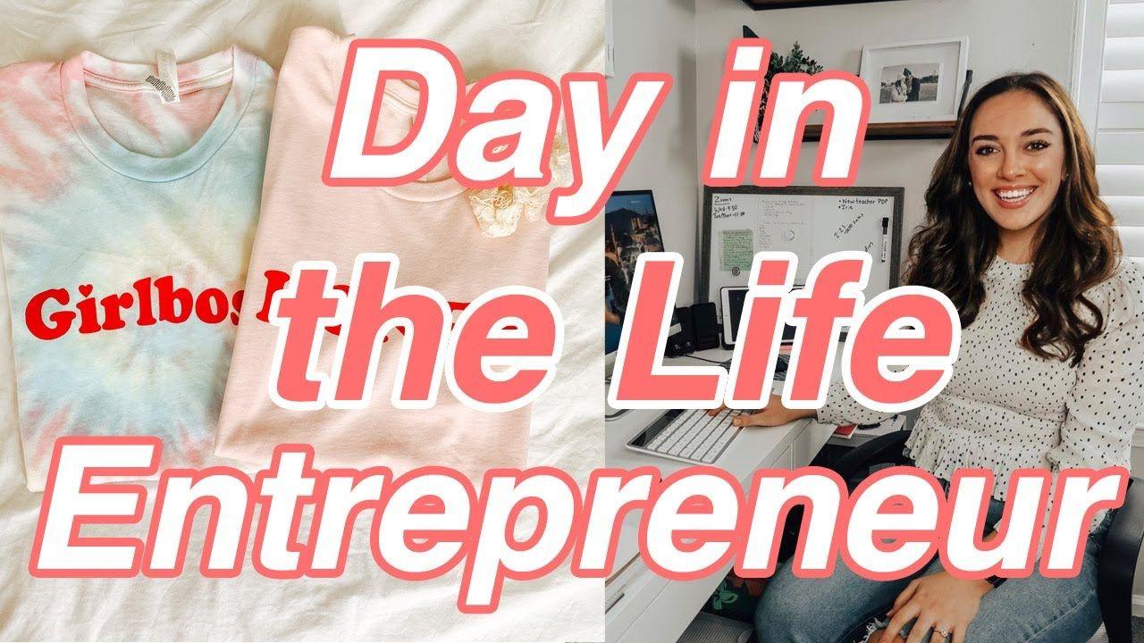 Entrepreneur Day in the Life, Etsy Shop Owner Day in the Life Vlog, YouTuber Day in the Life