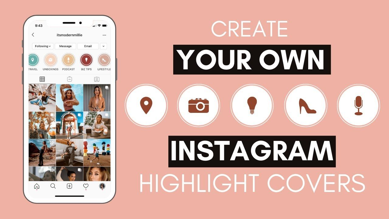 HOW TO CREATE INSTAGRAM HIGHLIGHT COVERS | Amazing hack using Canva without posting to your story