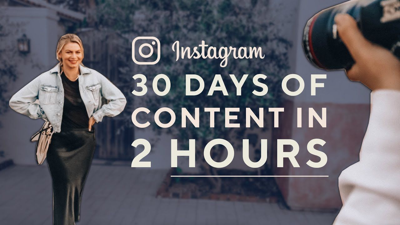 How To Create Consistent Content For Instagram (I SHOOT 30 DAYS OF CONTENT IN 2 HOURS!)