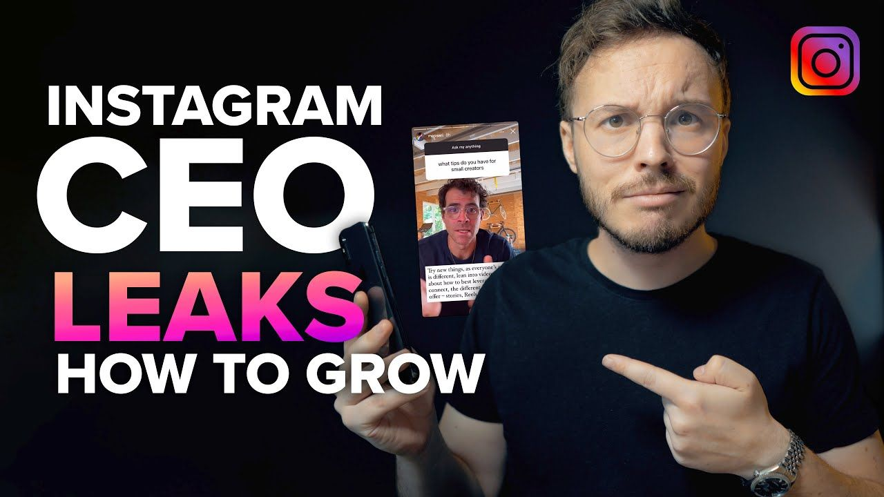 Instagram CEO Leaks How To Grow on Instagram (as a small creator)