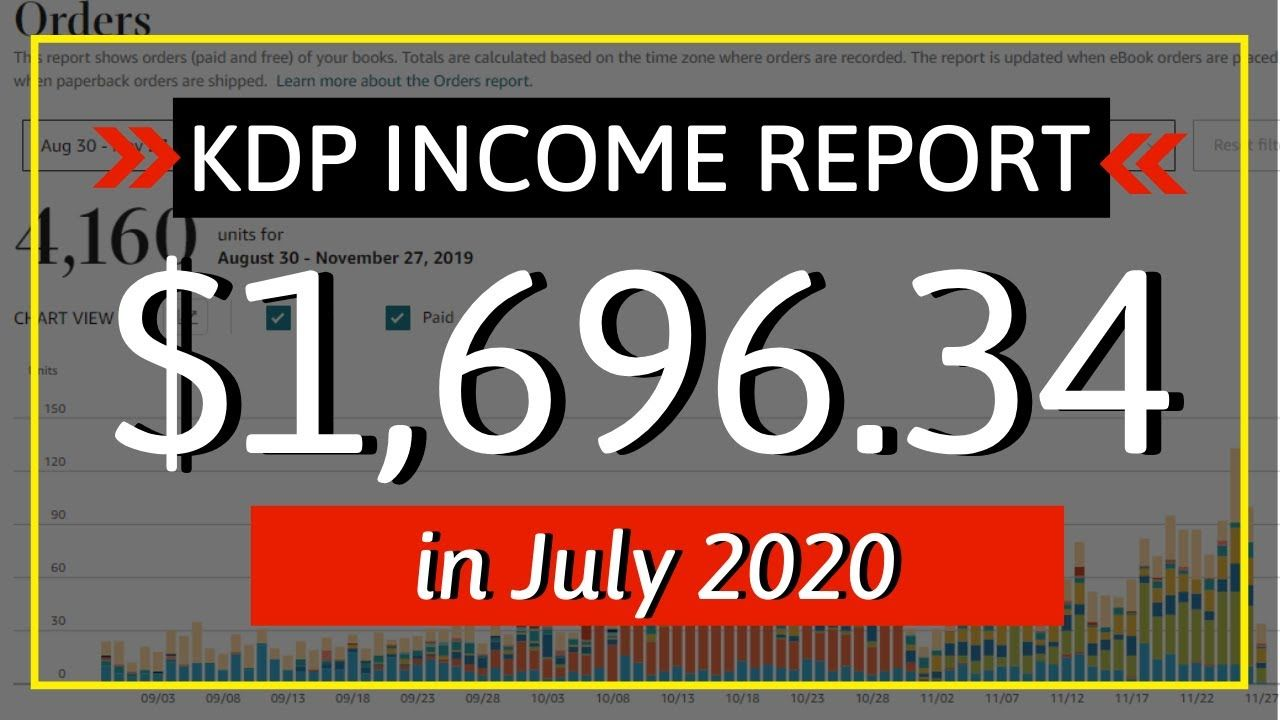 KDP Income Report July 2020: How I Earned $1,696.34 with Low & No Content