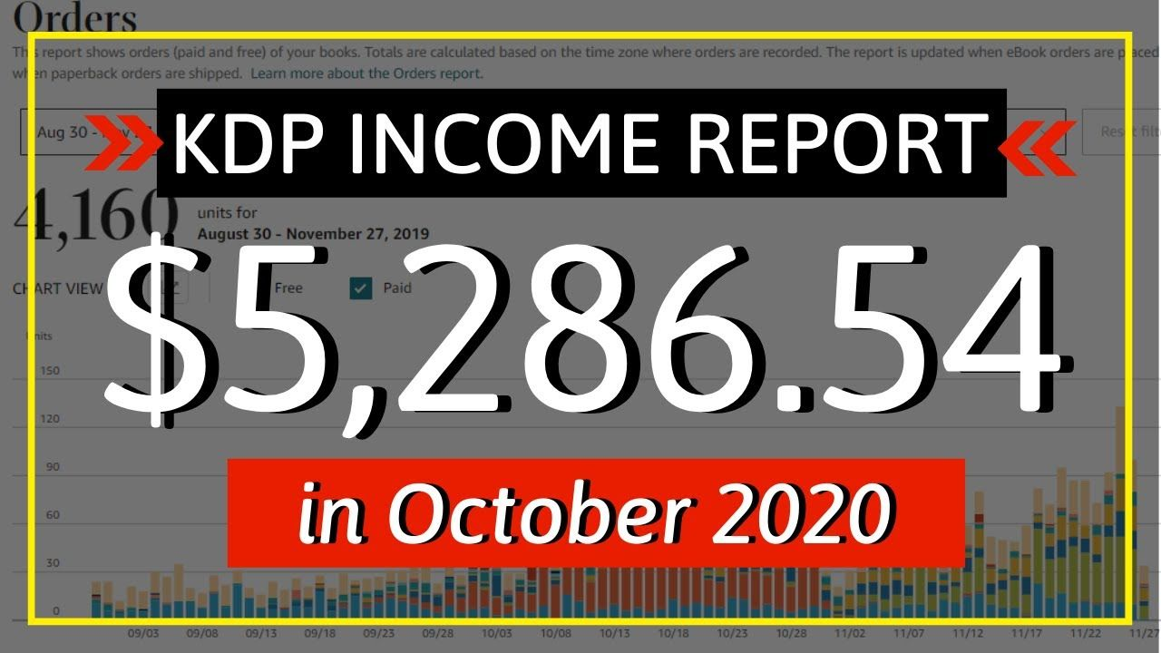 KDP Income Report October 2020: How I Earned $5,286.54 Online with Low & No Content Book Publishing