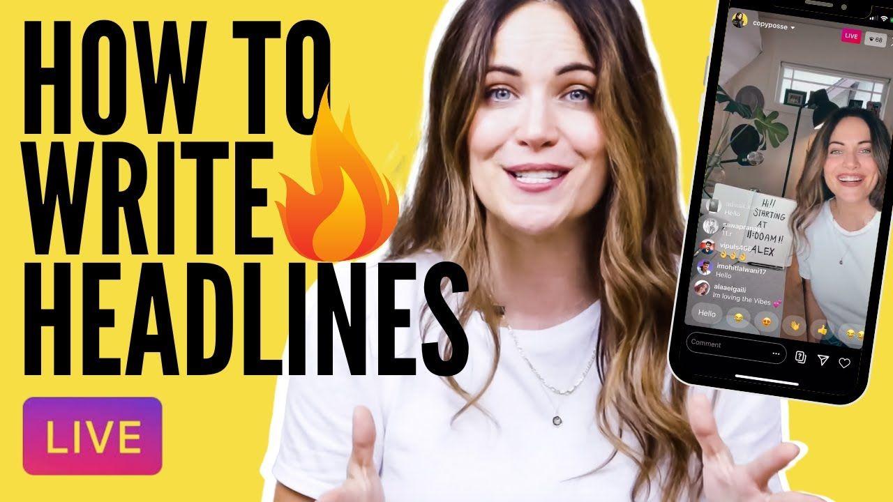LIVE Copywriting Tutorial: How To Write Attention Grabbing Headlines