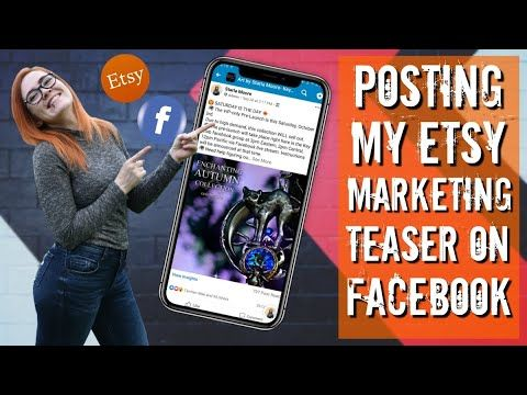 Posting my Etsy Collection Launch Marketing Teaser on Facebook