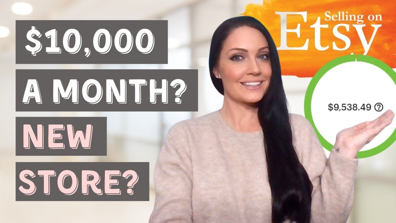 Etsy Shop For Beginners: Etsy Store Income Report ($10,000 A Month With A New Store?)