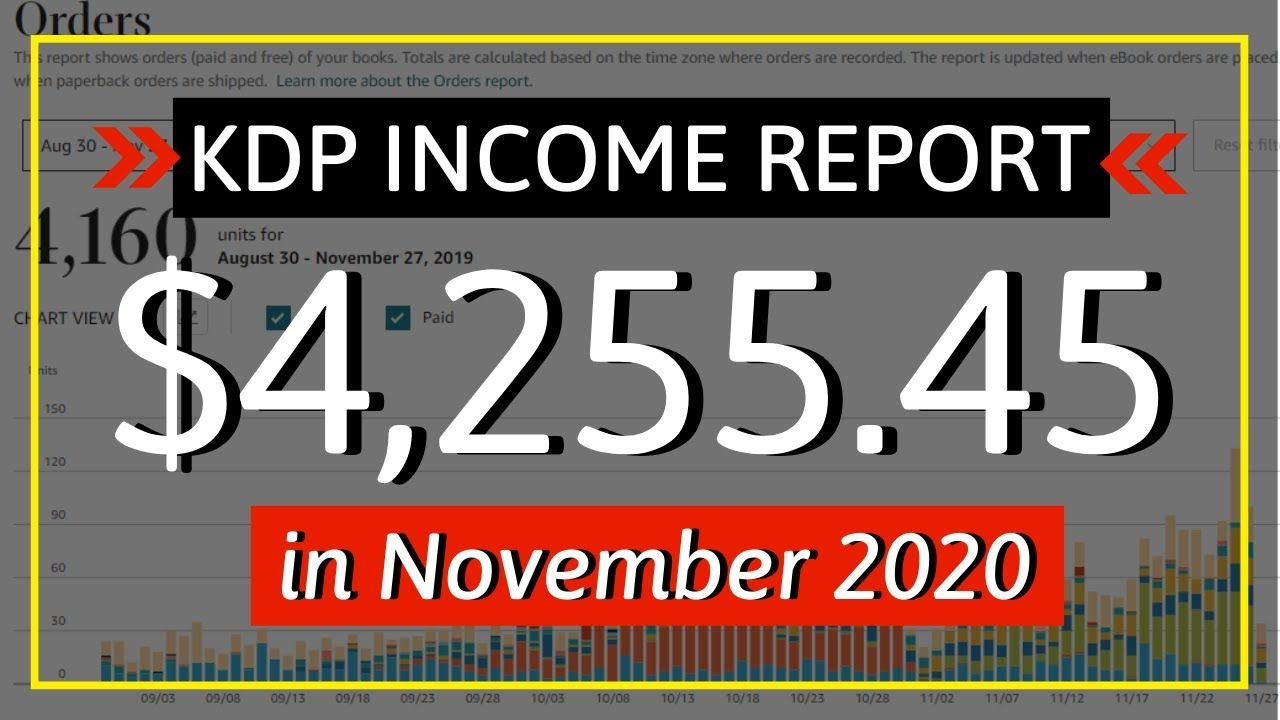 KDP Income Report November 2020: How I Earned $4255.45 Online with Low & No Content Book Publishing