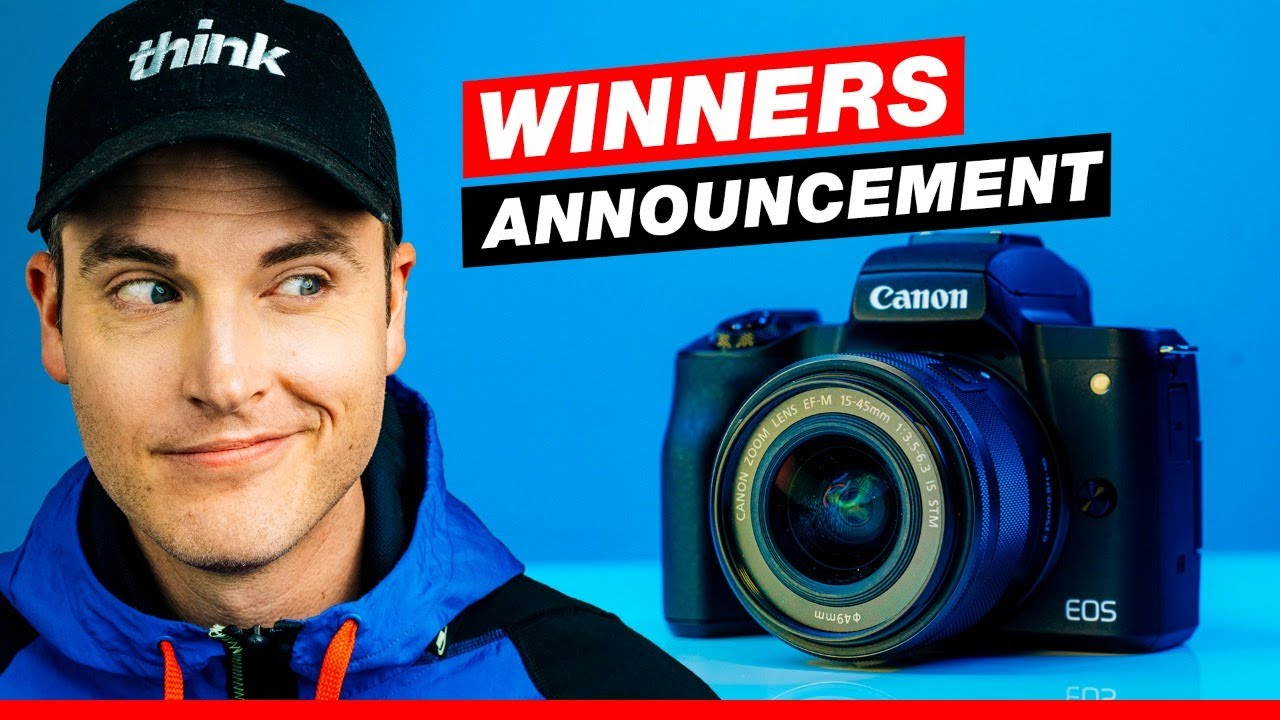 Winners Announcement! Canon M50 and YouTube Studio Giveaway