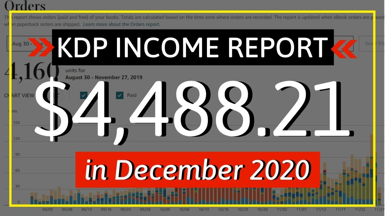 KDP Income Report December 2020: How I Earned $4,488.21 Online with Low & No Content Book Publishing