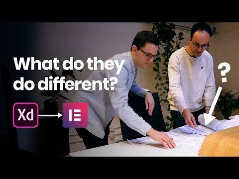 Why this Agency doesn't start in Elementor, but in Adobe Xd (web design process)