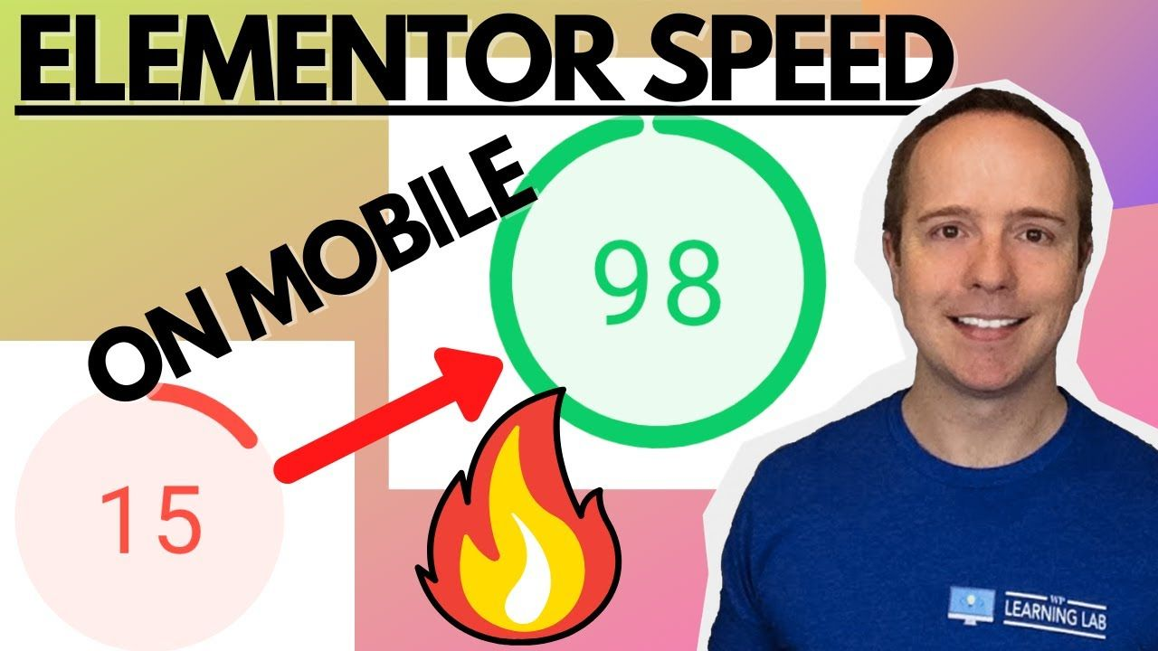 15 To 98 On Mobile On Google PageSpeed Insights – Speed Up Elementor