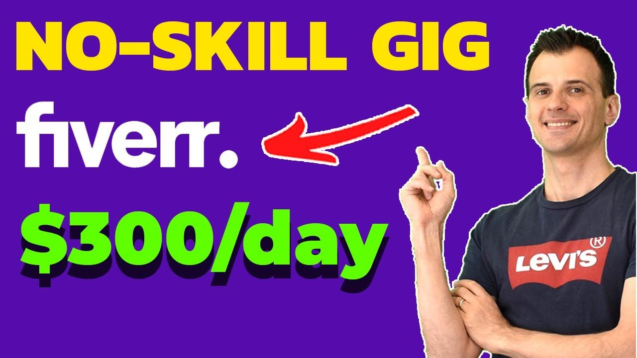 How to Make Money on Fiverr WITHOUT SKILLS: $300/Day Using FREE TOOLS