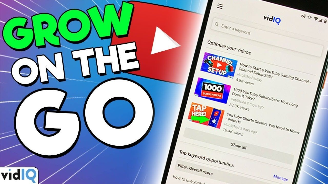 How to Grow on YouTube from your PHONE – vidIQ Mobile App Tour
