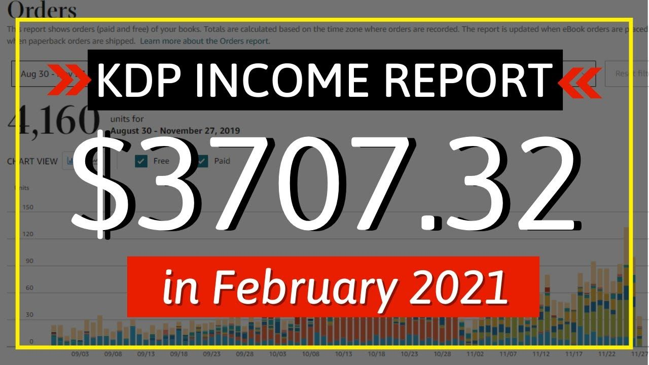 KDP Income Report February 2021: How I Earned $3707.32 Online with Low & No Content Book Publishing