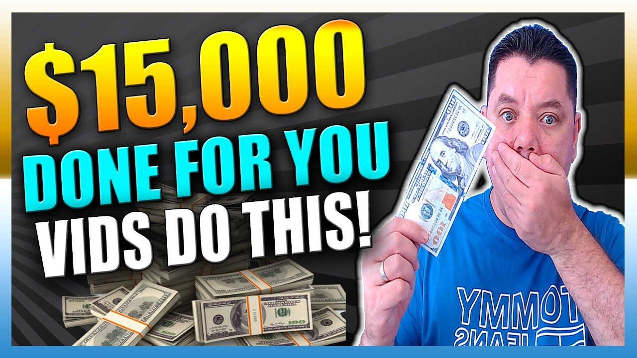 Make $15,000 Per Month With DONE FOR YOU VIDEOS   Make Money On Youtube Without Showing your Face