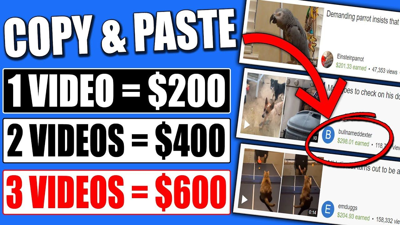 Copy & Paste Videos And Earn $200 Per Video (FULL Tutorial – Not YouTube) Make Money Online!