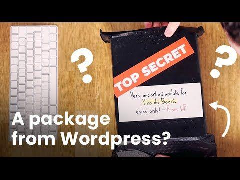 A secret package from WordPress? & Studio Tour