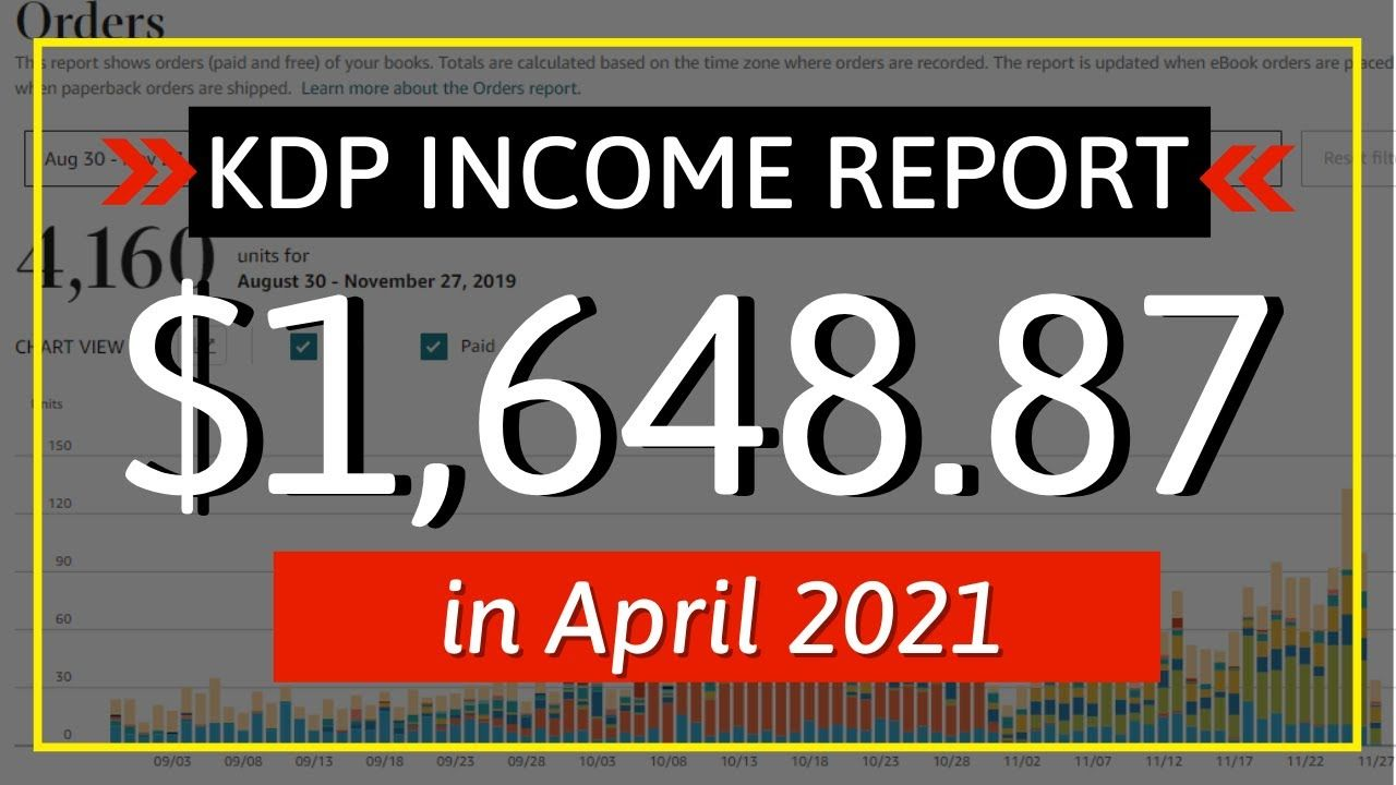 KDP Income Report April 2021: How I Earned $1,648.87 Online with Low & No Content Book Publishing