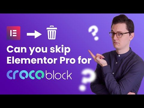 Do you need Elementor Pro if you have Crocoblock?