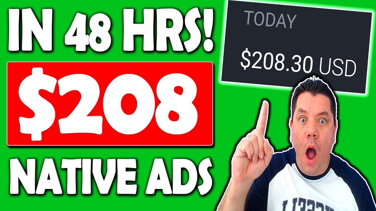 Easy Way To Make $200 a Day With Native Ads   Native Ads Tutorial to Make Money Online