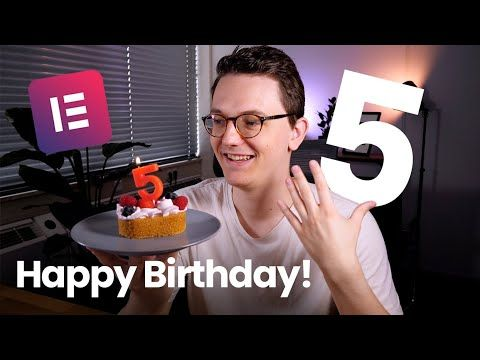 Elementor Pro is on sale for their 5th Birthday!
