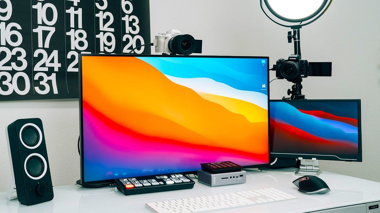 Home Office YouTube Studio Setup (Content Creation, Productivity & Live Streaming)