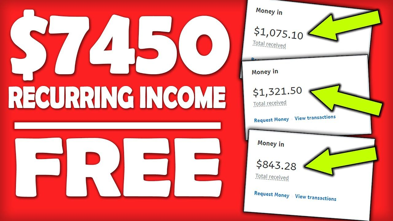 How To Make Passive Income Online & Earn $7,450 Recurring With This FREE Website (Make Money Online)