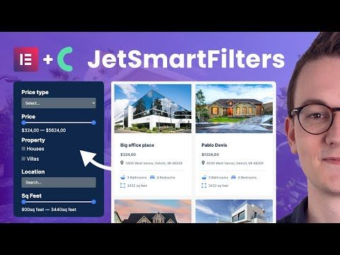 How to add a filter (JetSmartFilters from Crocoblock) on a Elementor Pro website