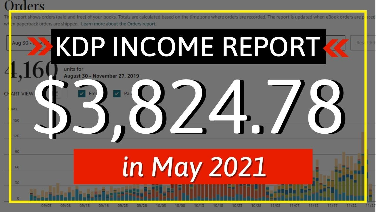 KDP Income Report May 2021: How I Earned $3,824.78 Online with Low & No Content Book Publishing