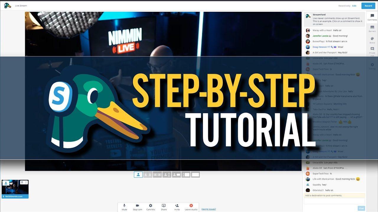 Live Stream On YouTube Even If Your Computer Sucks – Streamyard Tutorial