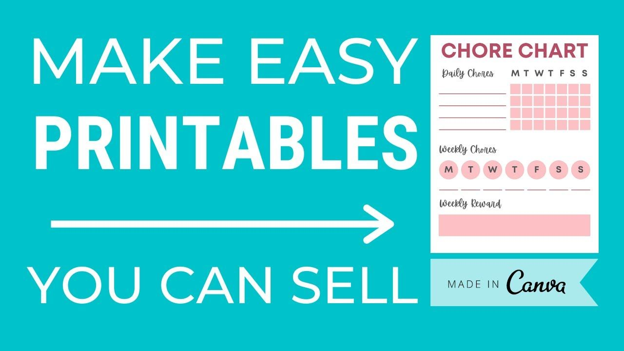 How To Create A Printable In Canva To Sell On Etsy | Digital Product Canva Tutorial