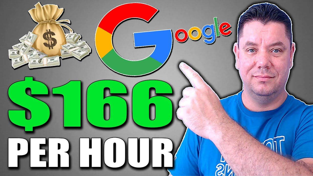 How To Make $166/HR Using GOOLGE (Free Course) Make Money Online