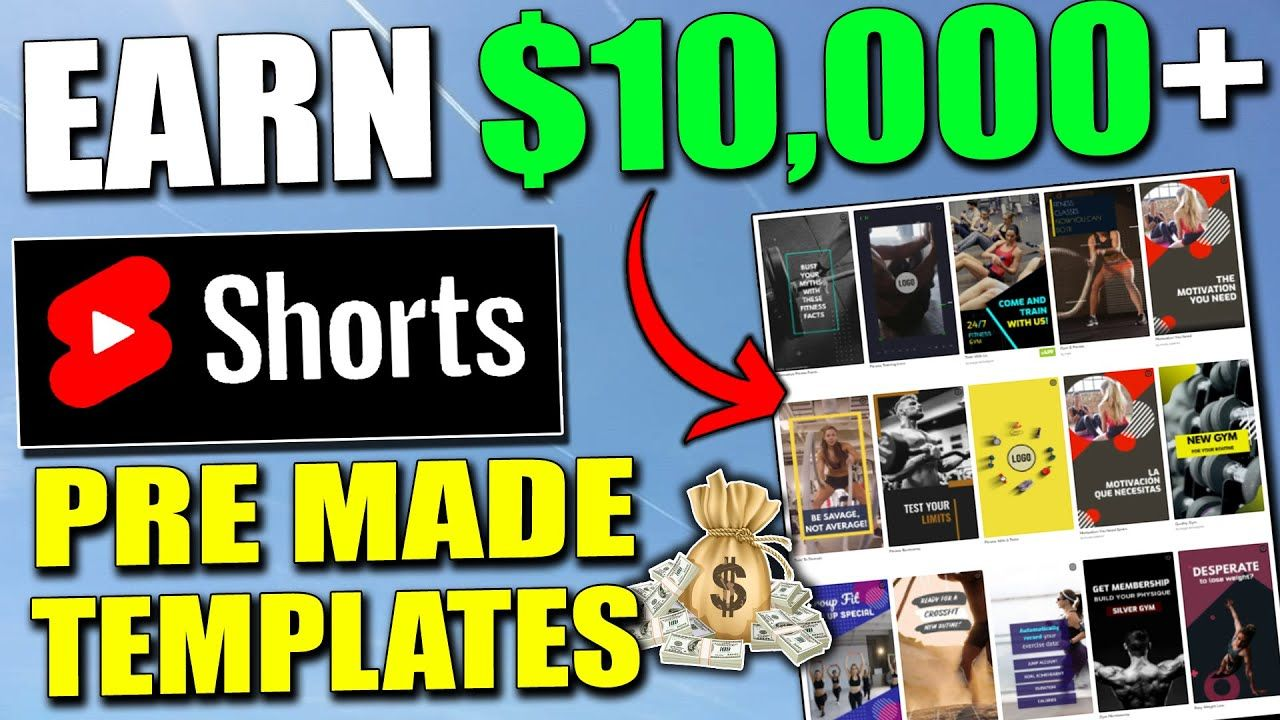 How To Make Money On YouTube SHORTS Using Pre Made Templates (Step By Step)