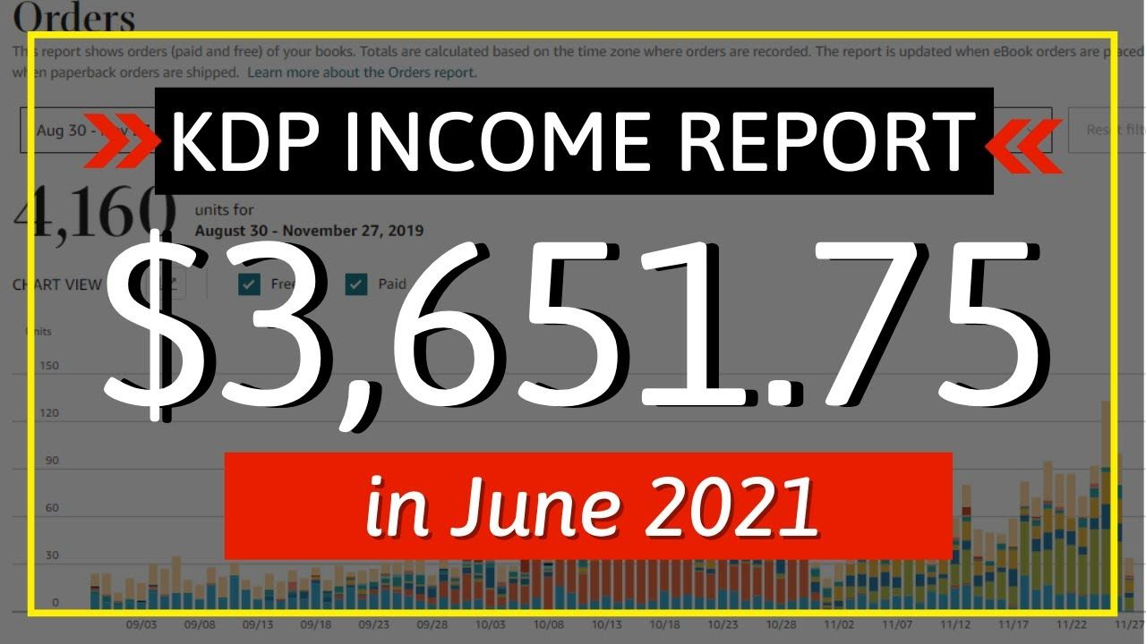 KDP Income Report June 2021: How I Earned $3,651.75 Online with Low & No Content Book Publishing