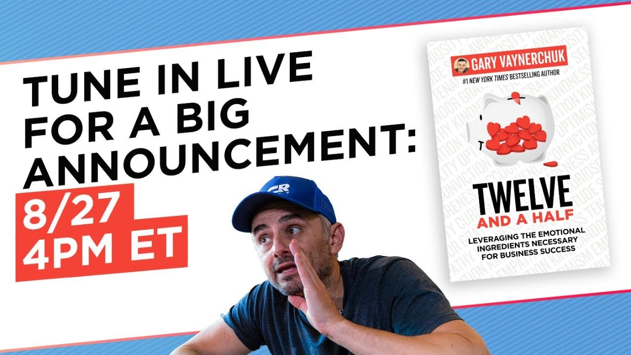 8/27: GOING LIVE AND A BIG ANNOUNCEMENT!