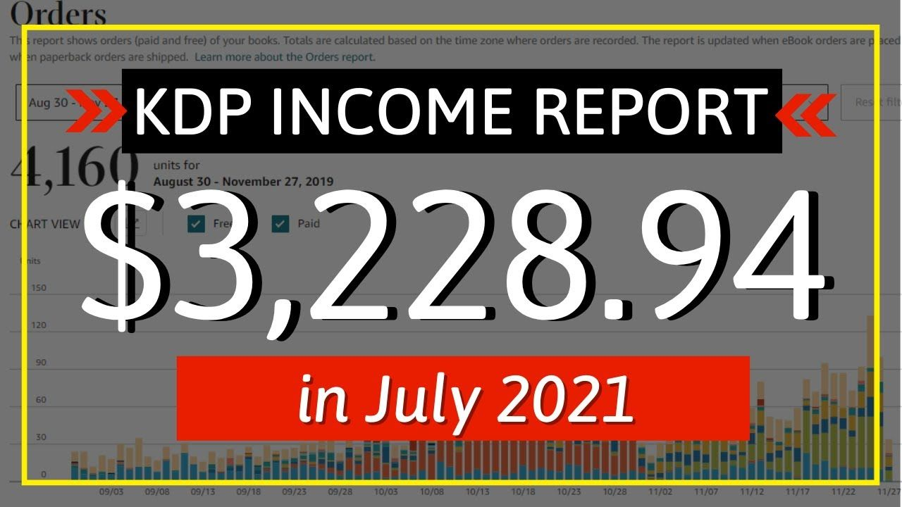 KDP Income Report July 2021: How I Earned $3,228.94 with Low & No Content