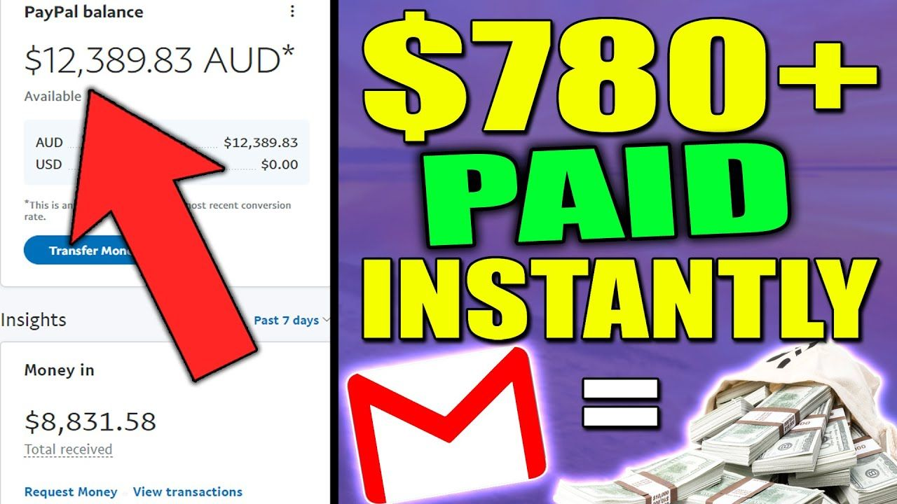 Get PAID $780 Instantly OVER & OVER Using Your Email To Make Money Online (EASY ONLINE BUSINESS)