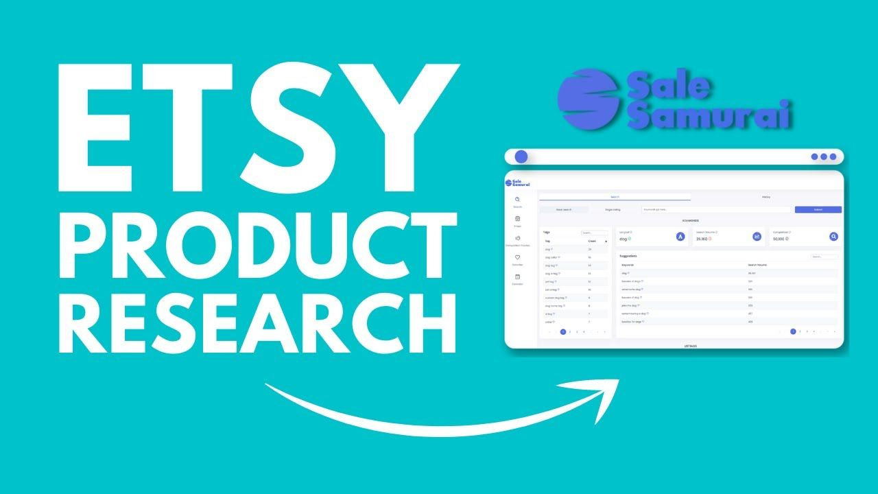 How To Find Etsy Product Ideas & Keywords With Sale Samurai | Grow Your Etsy Sales