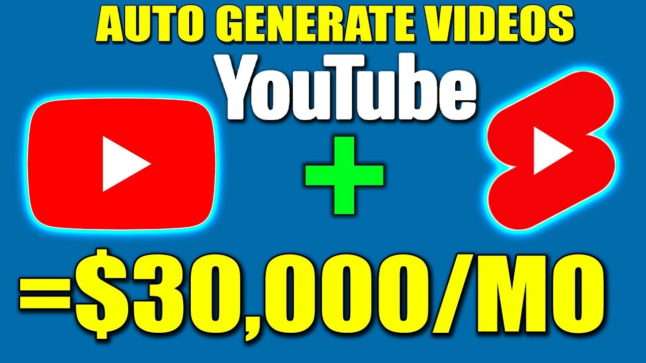 How To Make Money On YouTube WITHOUT Making Videos INC YouTube SHORTS ($30,000/Mo Auto-Created)