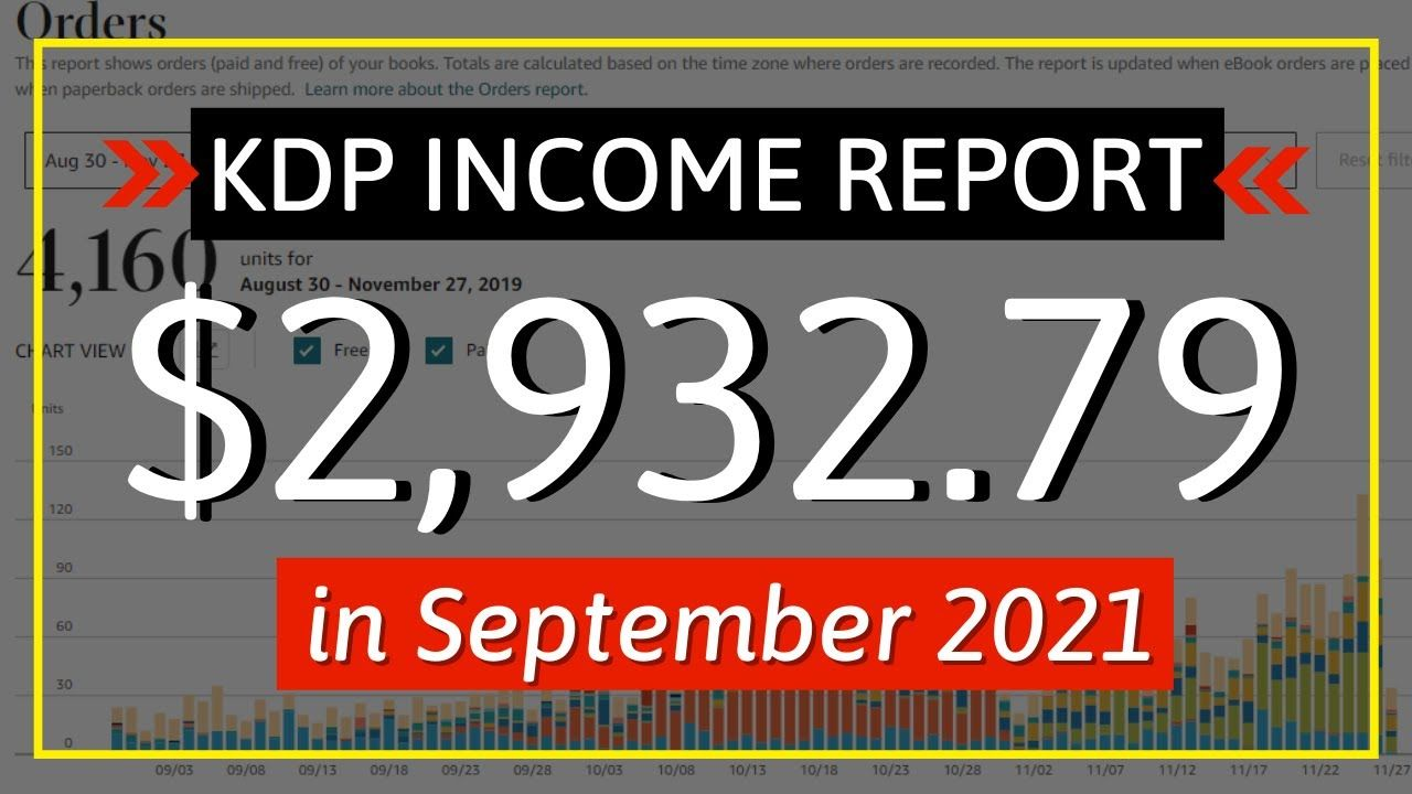 KDP Income Report September 2021: How I Earned $2,932.79 with Low & No Content Book Publishing.